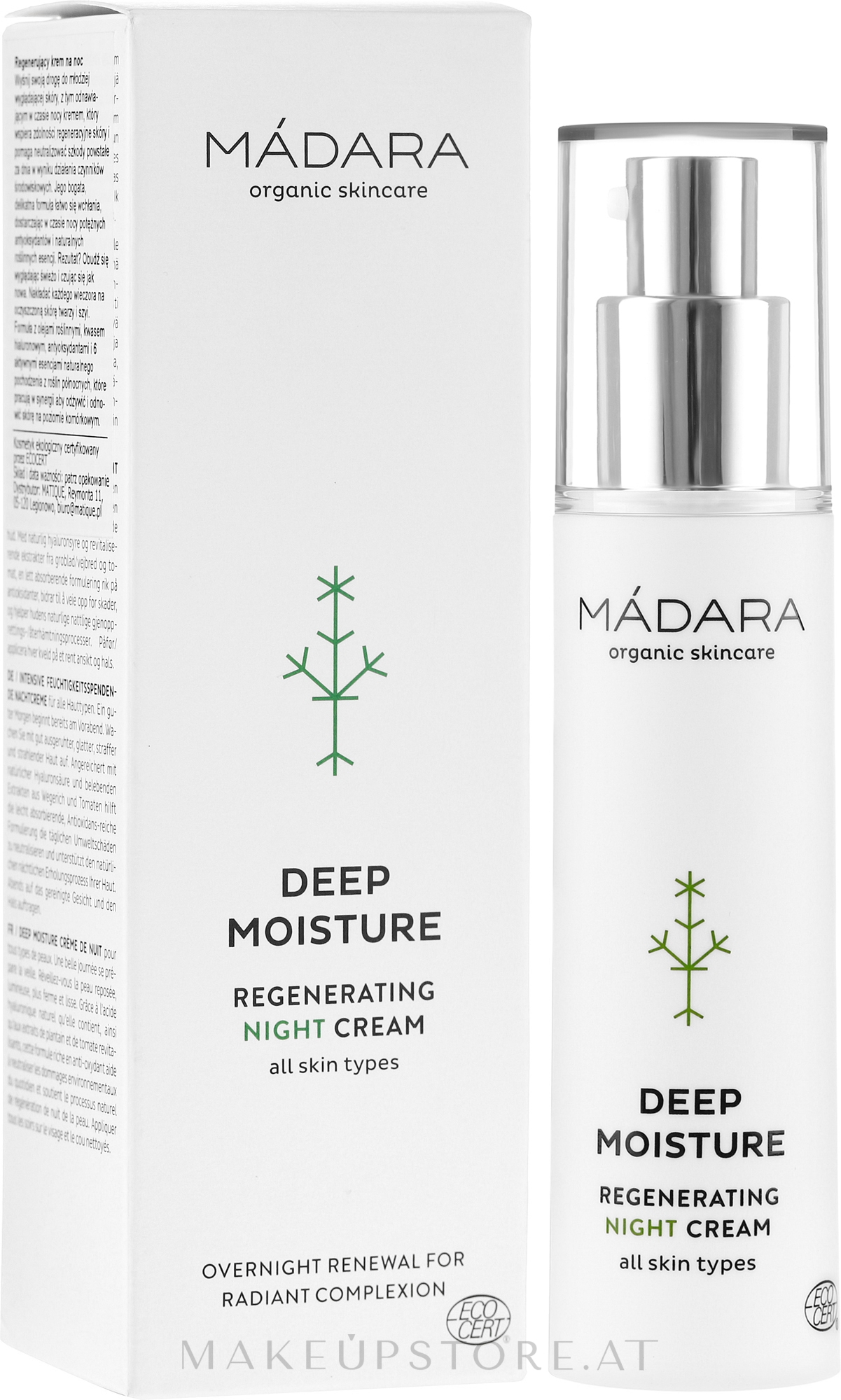 Regenerierende Nachtcreme für das Gesicht - Madara Cosmetics EcoFace — Bild 50 ml