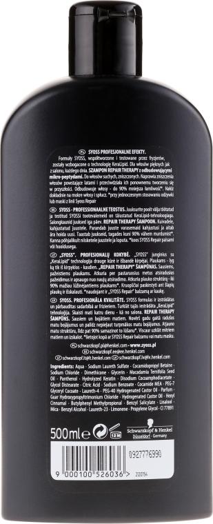 Farbschutz Shampoo für coloriertes Haar - Syoss Repair Therapy — Bild N2