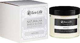 """Düfte, Parfümerie und Kosmetik Natürliche Soja-Duftkerze im Glas """"Kokos"""" - Eco Life Candles"""