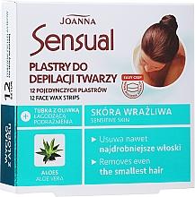 Düfte, Parfümerie und Kosmetik Enthaarungswachsstreifen für das Gesicht mit Aloeextrakt - Joanna Sensual Depilatory Face Strips