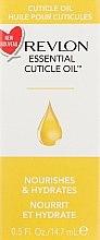 Düfte, Parfümerie und Kosmetik Nährendes und feuchtigkeitsspendendes Nagelhautöl - Revlon Essential Cuticle Oil Nail Care