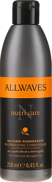 Regenerierende Haarspülung mit Leinöl für geschwächtes Haar - Allwaves Nutri Care Regenerating conditioner