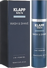 Düfte, Parfümerie und Kosmetik 2in1 Rasier- und Waschgel - Klapp Men Wash & Shave 2in1 Foam Gel