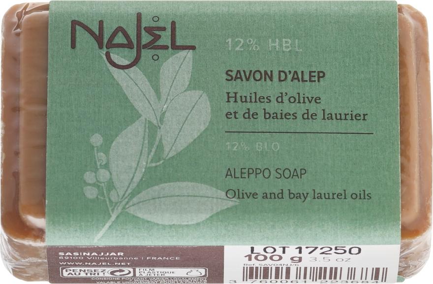Natürliche Seife mit Oliven- und 12% Lorbeeröl für normale bis Mischhaut - Najel Savon d'Alep Aleppo Soap By Laurel Oils 12% — Bild N1