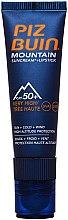 Düfte, Parfümerie und Kosmetik 2in1 Sonnenschützende Gesichtscreme und Lippenbalsam SPF 50+ - Piz Buin Mountain Suncream + Lipstick SPF50