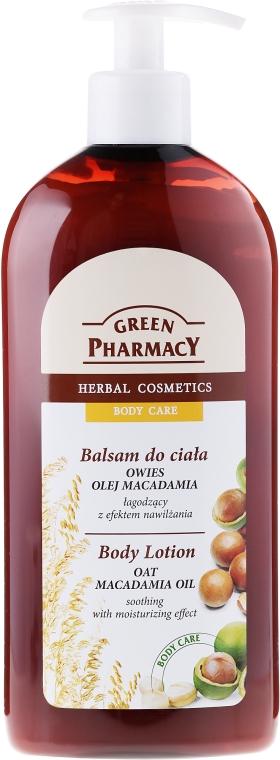 Feuchtigkeitsspendende und beruhigende Körperlotion mit Macadamiaöl und Hafer - Green Pharmacy