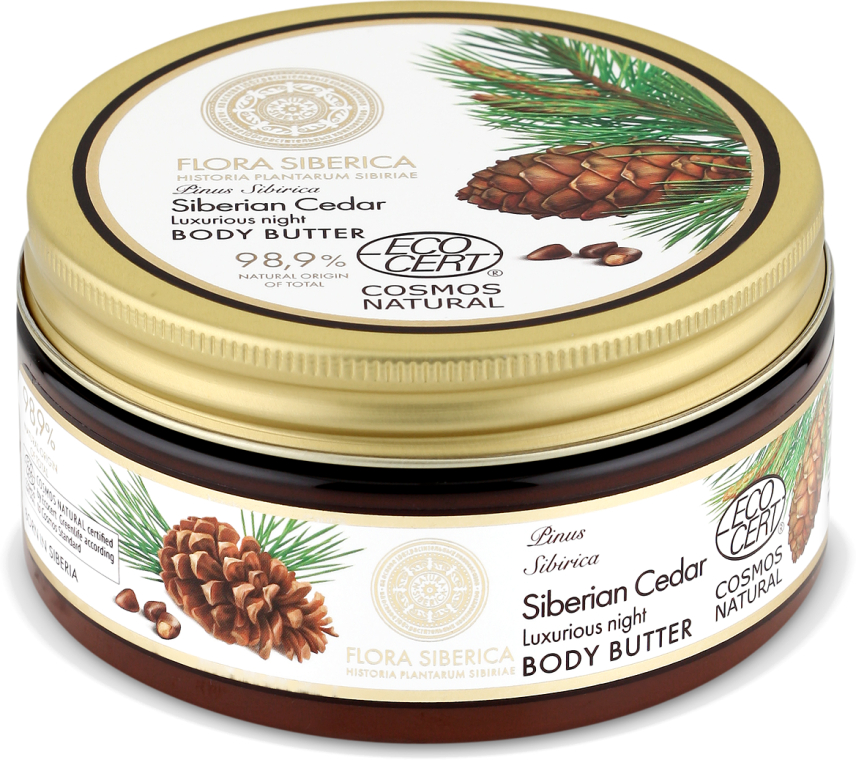 Körperbutter für die Nacht mit sibirischer Zeder - Natura Siberica Flora Siberica Siberian Cedar Luxurious Night Body Butter
