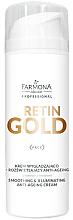 Düfte, Parfümerie und Kosmetik Anti-Aging glättende und aufhellende Gesichtscreme - Farmona Professional Retin Gold Smoothing & Illuminating Anti-Ageing Cream