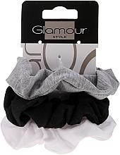 Düfte, Parfümerie und Kosmetik Haargummis 420 schwarz, grau, weiß 3 St. - Glamour
