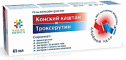 Düfte, Parfümerie und Kosmetik Fußgel-Balsam mit Rosskastanienextrakt und Troxerutin - Natura Medica