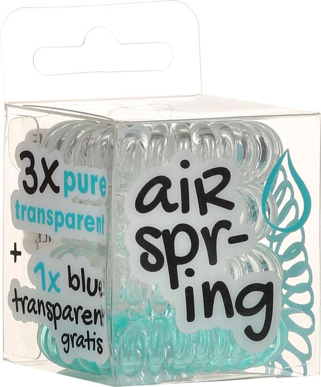 Haargummis transparent, türkis 4 St. - Hair Springs