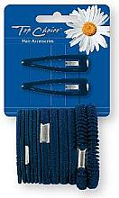 Düfte, Parfümerie und Kosmetik Haarschmuck-Set schwarz - Top Choice (Klick-Klack-Spange + Haargummis 2+12 St.)