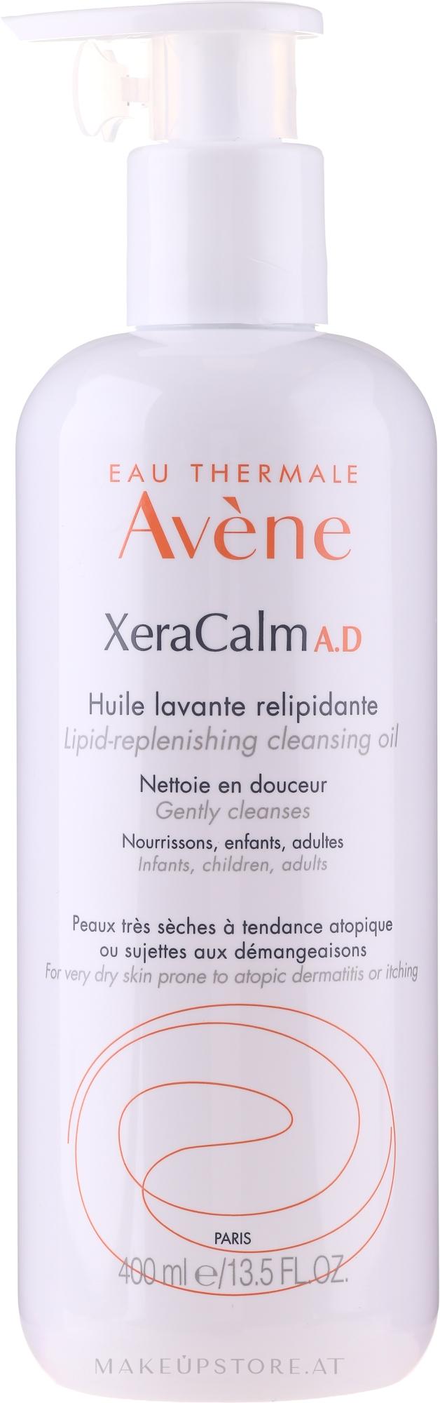 Körperreinigungsöl für trockene und zu Neurodermitis neigende Haut mit Lipiden - Avene Peaux Seches XeraCalm — Bild 400 ml