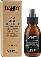 Düfte, Parfümerie und Kosmetik 2in1 Anti-Aging After Shave Serum mit Hyaluronsäure - Niamh Hairconcept Dandy 2 in 1 Age Defence Aftershave Serum