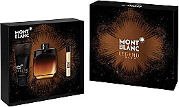 Düfte, Parfümerie und Kosmetik Montblanc Legend Night - Duftset (Eau de Parfum 100ml + Mini 7,5ml + After Shave Balsam 100ml)
