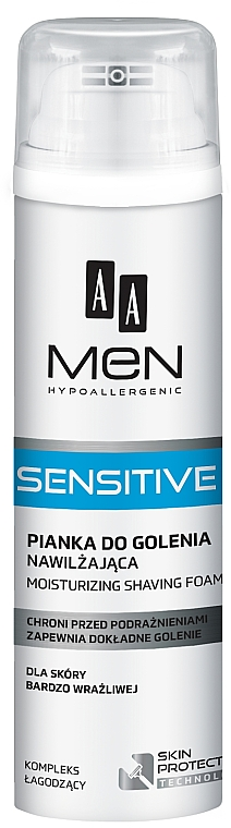 Feuchtigkeitsspendender Rasierschaum - AA Men Sensitive Moisturizing Shaving Foam