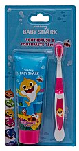 Düfte, Parfümerie und Kosmetik Zahnpflegeset für Kinder (Zahnpaste 75ml + Zahnbürste 1St.) - Pinkfong Baby Shark (tpst/75ml + tbrsh/1St.)
