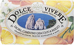 Düfte, Parfümerie und Kosmetik Naturseife Capri - Nesti Dante Energizing Soap Orange Blossom, Frosted Mandarine & Basil Dolce Vivere Collection