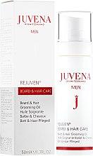 Düfte, Parfümerie und Kosmetik Pflegendes Bart- und Haaröl - Juvena Rejuven Men Beard & Hair Grooming Oil