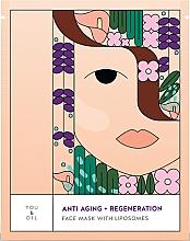 Düfte, Parfümerie und Kosmetik Regenerierende Anti-Aging Gesichtsmaske mit Liposomen - You & Oil Anti-Aging & Regeneration Face Mask With Liposomes
