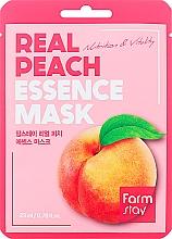 Düfte, Parfümerie und Kosmetik Pflegende und vitalisierende Tuchmaske für das Gesicht mit Pfirsichextrakt - FarmStay Real Peach Essence Mask