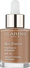 Düfte, Parfümerie und Kosmetik Feuchtigkeitsspendende Foundation - Clarins Skin Illusion Foundation SPF 15