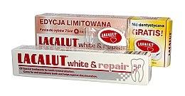 Düfte, Parfümerie und Kosmetik Zahnpflegeset - Lacalut White & Repair Set (Zahnpasta 75ml+Zahnseide)
