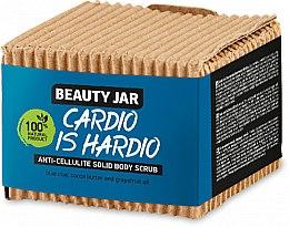 Düfte, Parfümerie und Kosmetik Anti-Cellulite Körperpeeling mit blauem Ton, Kokosbutter und Grapefruitöl - Beauty Jar Cardio Is Hardio Anti-Cellulite Solid Body Scrub