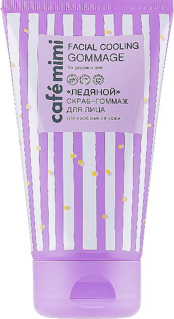 Kühlendes Peeling-Gommage für das Gesicht mit Pfefferminzextrakt, Aprikosensamenpulver und Provitamin B5 - Cafe Mimi Facial Cooling Gommage