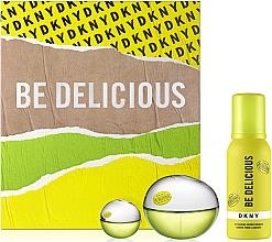 Düfte, Parfümerie und Kosmetik DKNY Be Delicious - Duftset (Eau de Parfum 50ml + Duschmousse 100ml + Eau de Parfum Mini 7ml)
