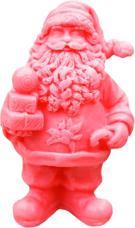 Handgemachte Naturseife St. Weihnachtsmann mit Geschenken mit Kirschduft - LaQ Happy Soaps Natural Soap
