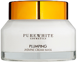 Düfte, Parfümerie und Kosmetik Creme-Maske für die Gesichtselastizität mit Jasmin - Pure White Cosmetics Plumping Jasmine Cream Mask