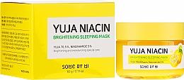 Düfte, Parfümerie und Kosmetik Aufhellende Gesichtsmaske für die Nacht - Some By Mi Yuja Niacin Brightening Sleeping