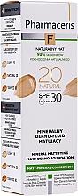 Düfte, Parfümerie und Kosmetik Getöntes mattierendes Gesichtsfluid SPF 30 - Pharmaceris F Mineral Mattifying Fluid Dermo-Foundation SPF 30