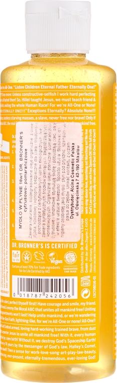 18in1 Flüssige Hand- und Körperseife mit Zitrus-Orange - Dr. Bronner's 18-in-1 Pure Castile Soap Citrus & Orange — Bild N4