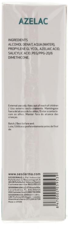 Lotion für Gesicht, Körper und Haare - SesDerma Laboratories Azelac Lotion — Bild N2