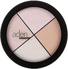 Düfte, Parfümerie und Kosmetik Highlighter Gesichtspalette - Aden Cosmetics Highlighter Palette