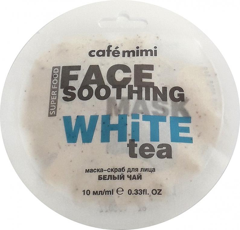 Beruhigende Peelingmaske für das Gesicht mit weißem Tee und Lotus - Cafe Mimi Face Mask