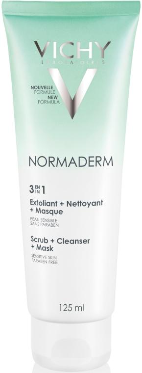 3in1 Gesichtspeeling für empfindliche Haut - Vichy Normaderm Tri-Activ Nettoyant — Bild N1