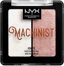Düfte, Parfümerie und Kosmetik Flüssiger Highlighter - NYX Professional Makeup Machinist Highlighter Duo