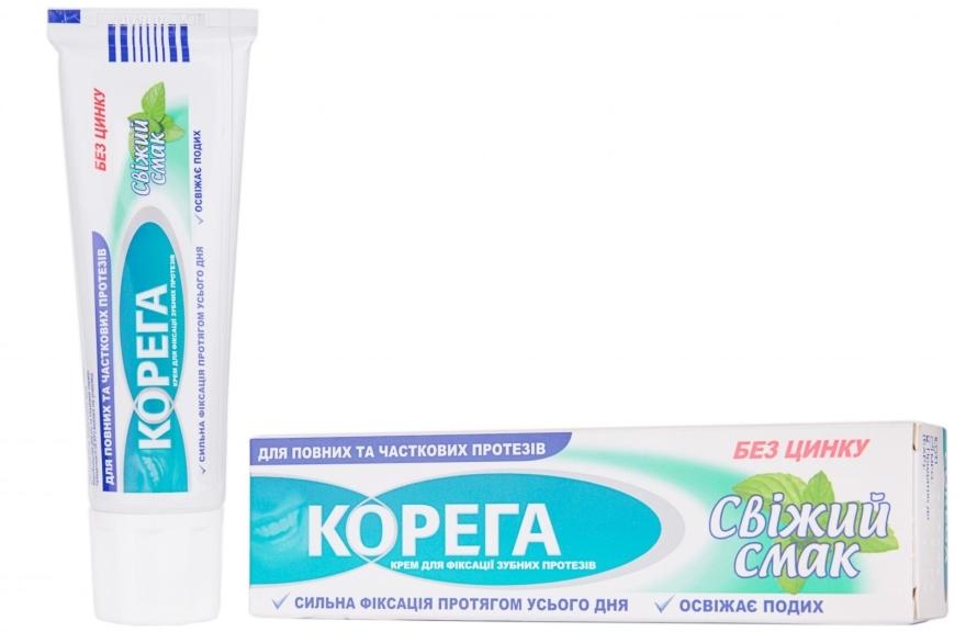 Zahnprothesen-Fixiercreme mit erfrischendem Geschmack - Corega — Bild N1