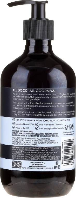 Natürliche Handseife Sea Kelp & Peppermint - Baylis & Harding Goodness Sea Kelp & Peppermint Natutal Hand Wash — Bild N2