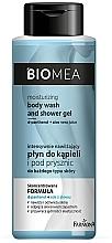 Düfte, Parfümerie und Kosmetik Intensiv feuchtigkeitsspendendes Bade- und Duschgel für alle Hauttypen - Farmona Biomea Moisturizing And Shower Gel