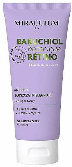 Pflegendes Anti-Aging Gesichtspeeling - Miraculum Bakuchiol Botanique Retino