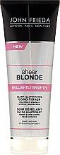 Düfte, Parfümerie und Kosmetik Haarspülung zum Beleben von blonder Haarfarbe mit perlmutternem Glanz - John Frieda Sheer Blonde Brilliantly Brighter Conditioner