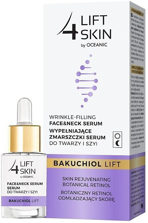 Anti-Falten Serum für Gesicht und Hals mit Lifting-Effekt und Bakuchiol - Lift4Skin Bakuchiol Lift Wrinkle-Filling Face & Neck Serum