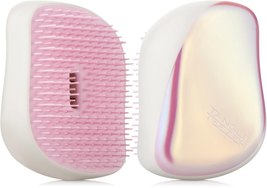 Kompakte Haarbürste cremeweiß mit Glanz - Tangle Teezer Compact Styler Smooth and Shine