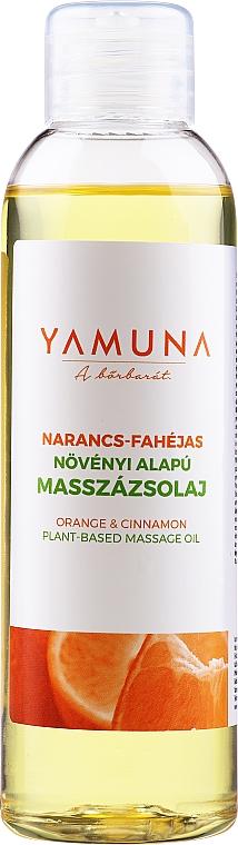 Olejek do masażu Pomarańcza i cynamon - Yamuna Orange-Cinnamon Plant Based Massage Oil