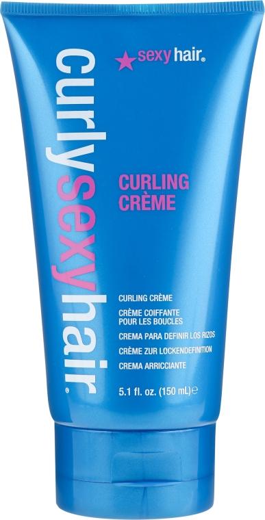 Stylingcreme für dickes und lockiges Haar - SexyHair CurlySexyHair Curling Creme — Bild N1
