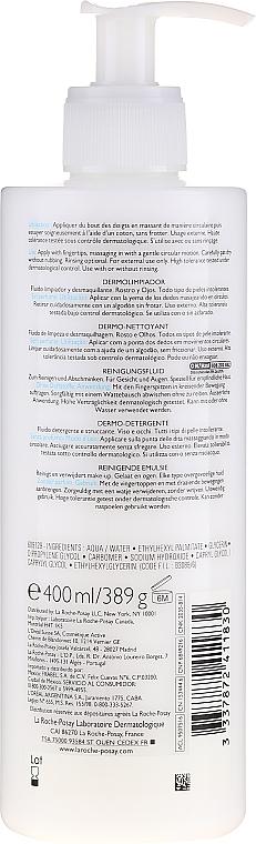 Reinigungsfluid zum Abschminken für Augen und Gesicht - La Roche-Posay Toleriane Dermo-Cleanser 200 ml — Bild N2